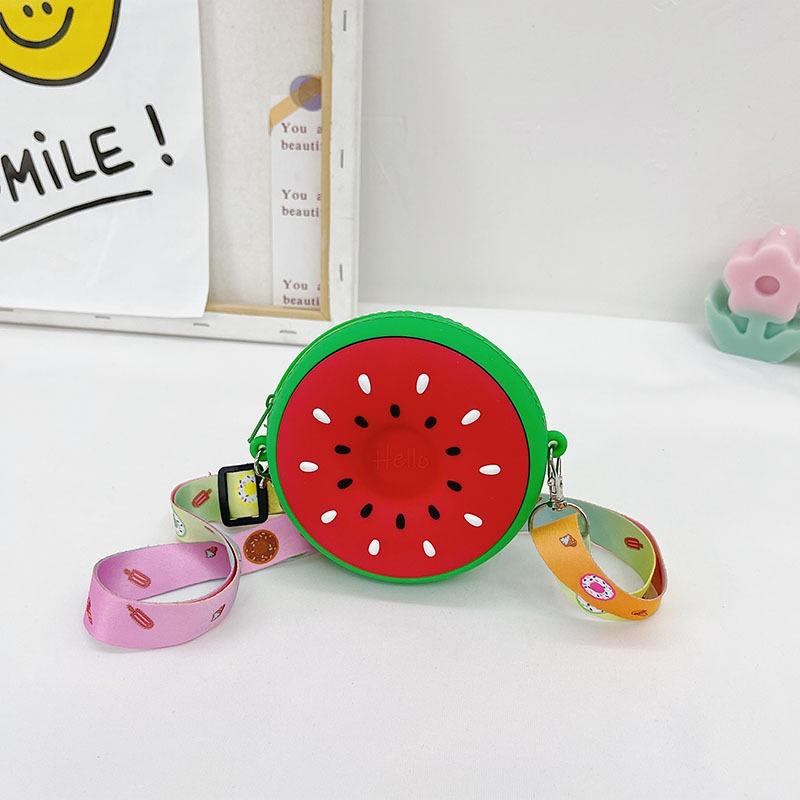 Mode Wassermelonenform Schulter Messenger Mini Silikonbeutel NHTG369765