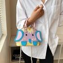 new contrast color stitching cute little elephant messenger bag NHTG369797