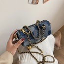 new fashion braided chain messenger denim cylinder bag NHTG369810