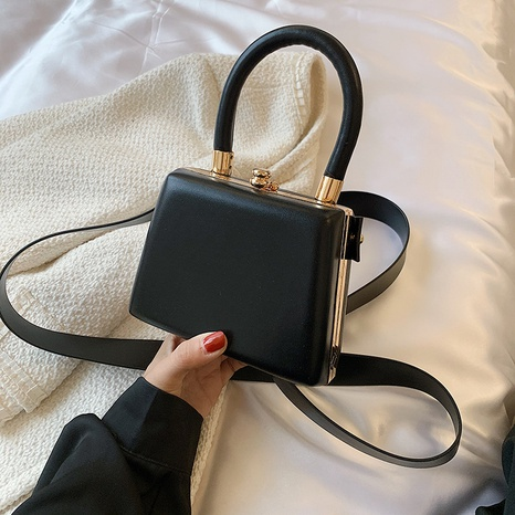 Korean solid color square messenger bag  NHTG369847's discount tags