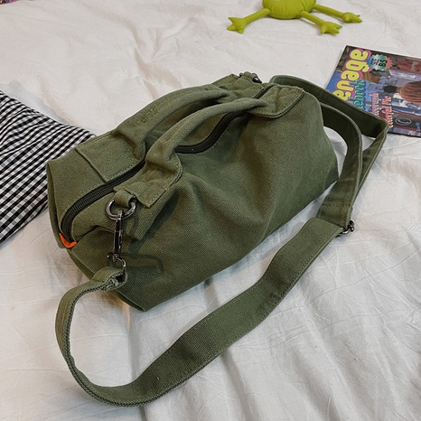 simple large-capacity canvas messenger bag  NHTG369848's discount tags