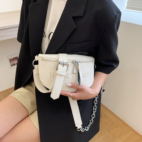 Fashion embroidered metal chain chest bag NHTG369855's discount tags