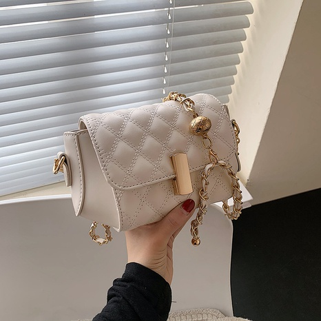 Korean lingge embroidery chain bag  NHTG369856's discount tags