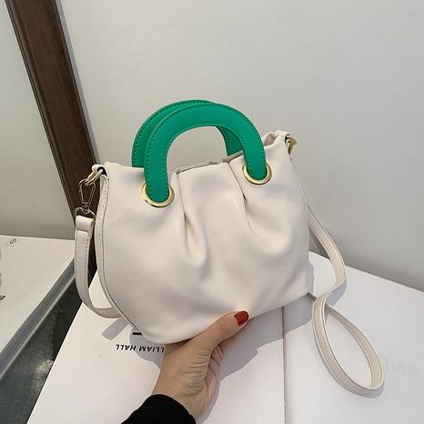 Korean folded cloud hit color crossbody shoulder bag  NHJZ369873's discount tags