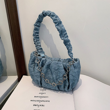 fashion fold metal chain one-shoulder messenger bag  NHJZ369875's discount tags
