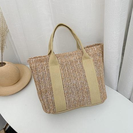 sac à main de plage tissé en paille de loisirs de mode NHRU360363's discount tags