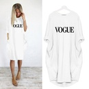 Fashion Long Sleeve Letter Printing Round Neck Casual Dress NHKO361122