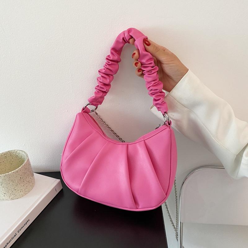 Fashion cloud lightweight fold underarm bag NHJZ360504
