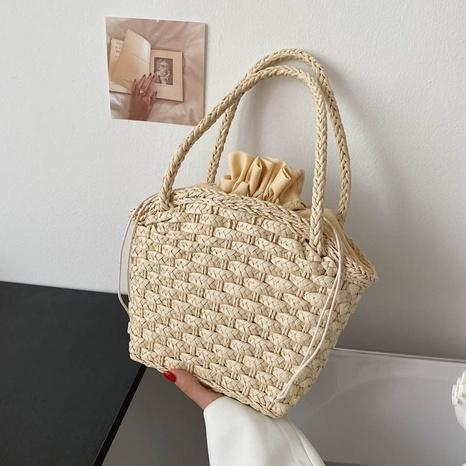 Sommermode gewebte Handtasche mit Kordelzug NHJZ360587's discount tags