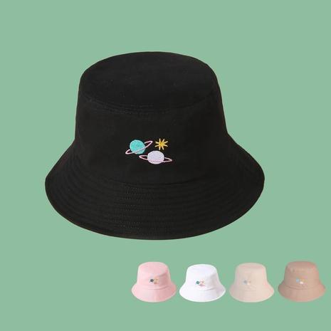 Koreanischer Stil Modefarbe Stickerei Satelliten Fischerhut NHAMD360652's discount tags
