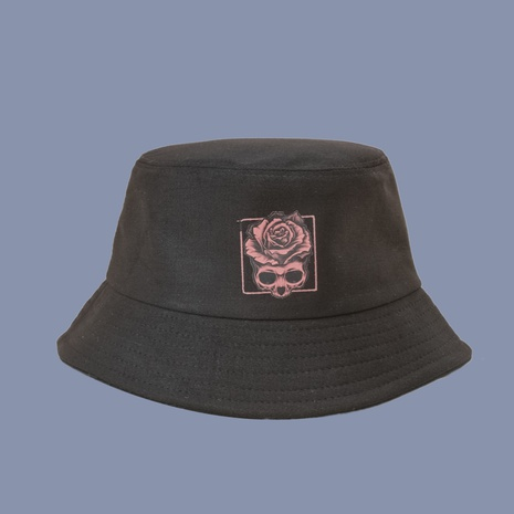 Koreanischer Stil Mode Rose Blume breitkrempiger Fischerhut NHAMD360654's discount tags