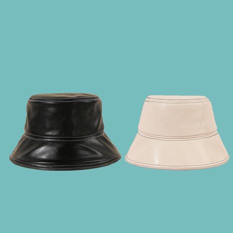Reine Farbe PU-Sonnenschutz-Fischerhut im koreanischen Stil NHAMD360662's discount tags
