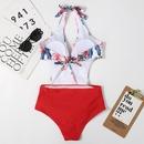 nouveau style de mode sexy couleur licou sangle bikini  col en V NHHL360682
