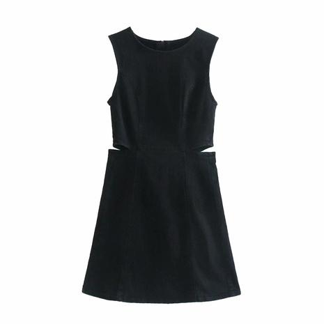 wholesale fashion solid color denim dress  NHAM360770's discount tags