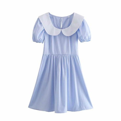 wholesale fashion doll collar short-sleeved dress  NHAM360777's discount tags