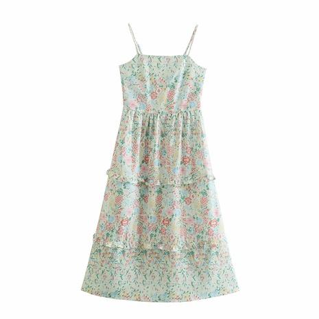 wholesale fashion sling floral waist dress  NHAM360787's discount tags
