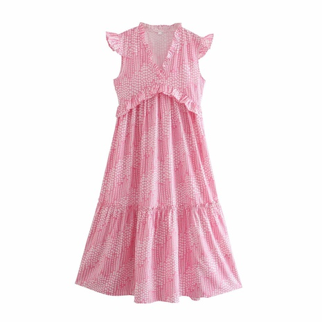 Fashion summer flying sleeves trimming long dress  NHAM360788's discount tags
