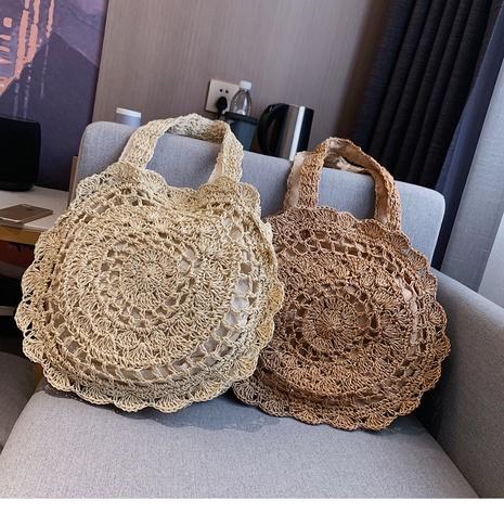 sacs à main en paille tissés à la main de grande capacité de style bohème NHTG360793's discount tags
