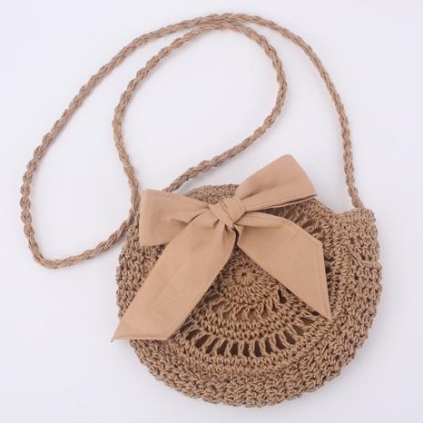 nouveau sac tissé à bandoulière avec nœud mignon NHTG360841's discount tags