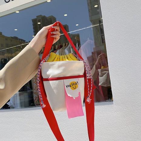sac en toile de seau de messager de couleur de bonbon de mode NHTG360844's discount tags