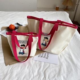 fashion printing large-capacity canvas bag wholesale  NHTG360850