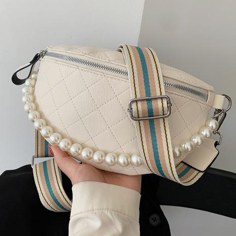 sac de poitrine messenger à bandoulière à chaîne de perles à la mode NHTG360854's discount tags