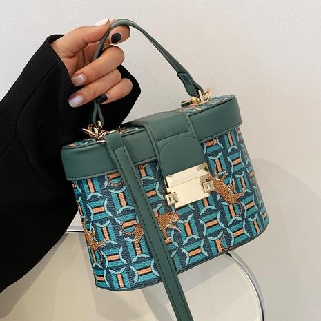 sac seau à bandoulière à boucle en métal avec impression de mode NHTG360861's discount tags
