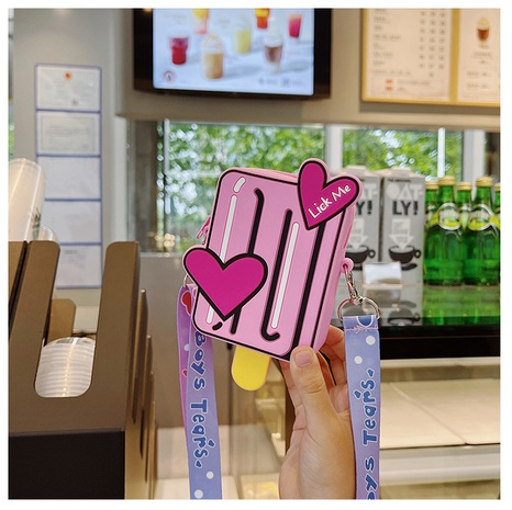 joli sac en silicone en forme de crème glacée en forme de bouteille de couleur bonbon NHTG360884's discount tags