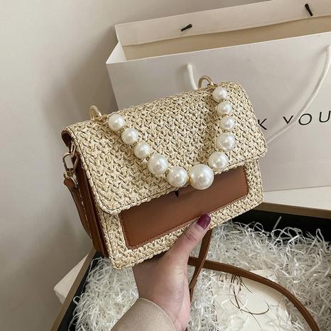 Mode gewebte Perlenquadrattasche Großhandel NHTG360890's discount tags
