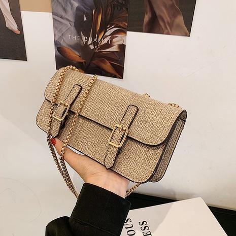 Petit sac carré en lin messenge à bandoulière simple de style coréen NHTG360899's discount tags
