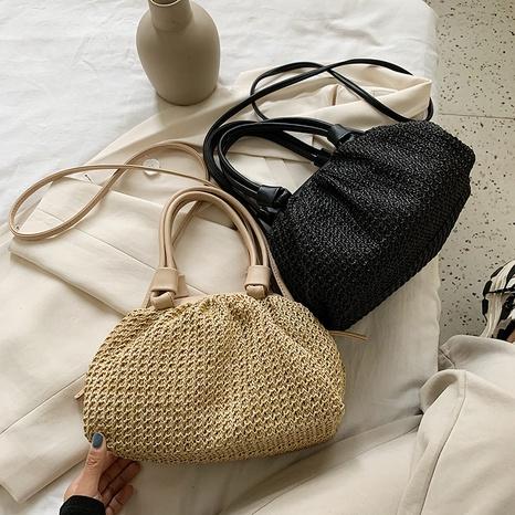 Fashion straw woven seaside dumpling bag  NHTG360901's discount tags