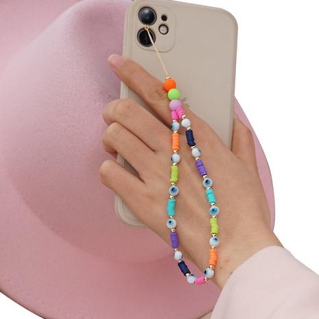 Colored ceramic mobile phone lanyard Bohemian handmade beaded anti-lost mobile phone chain NHYUZ360909's discount tags