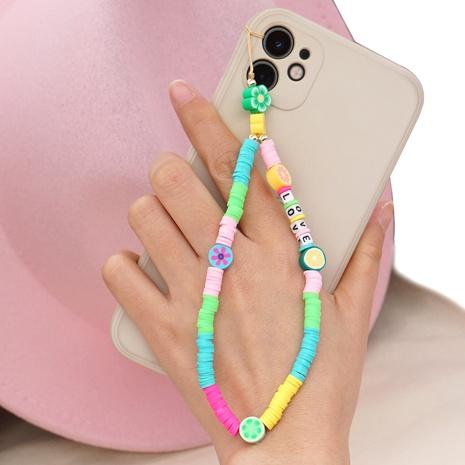 Bohemian LOVE letter beaded anti-lost mobile phone chain key chain ceramic mobile phone lanyard NHYUZ360925's discount tags