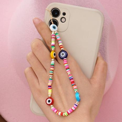 Multicolor handmade beaded anti-lost mobile phone chain ceramic mobile phone lanyard NHYUZ360934's discount tags
