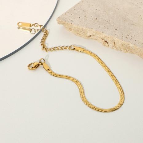Simple Metal Stainless Steel Snake Chain Bracelet  NHJIE369989's discount tags