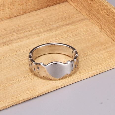 simple wide version titanium steel ring  NHAB370059's discount tags