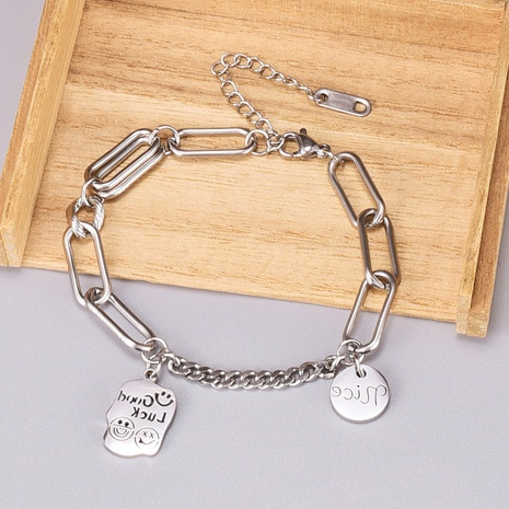 punk multi-accessory couple titanium steel bracelet metal NHAB370084's discount tags