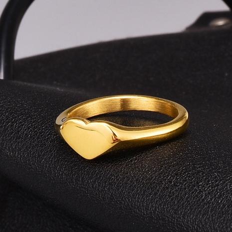 fashion heart glossy bright titanium steel ring  NHAB370096's discount tags