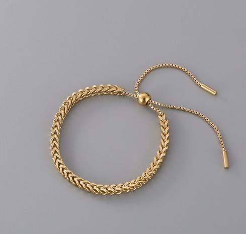 Fashion drawstring braided titanium steel bracelet  NHAB370101's discount tags