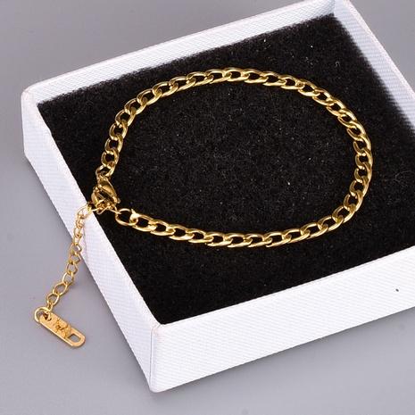 Bracelet en acier au titane à chaîne creuse de style coréen NHAB370115's discount tags