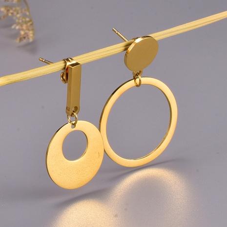 Korean retro irregular titanium steel earrings  NHAB370127's discount tags