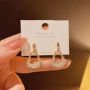 Korean Style Pearl Water Drop Geometric Earrings   NHXI370258