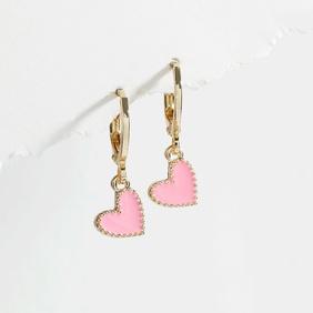 fashion drop oil heart shape earrings NHLU370376