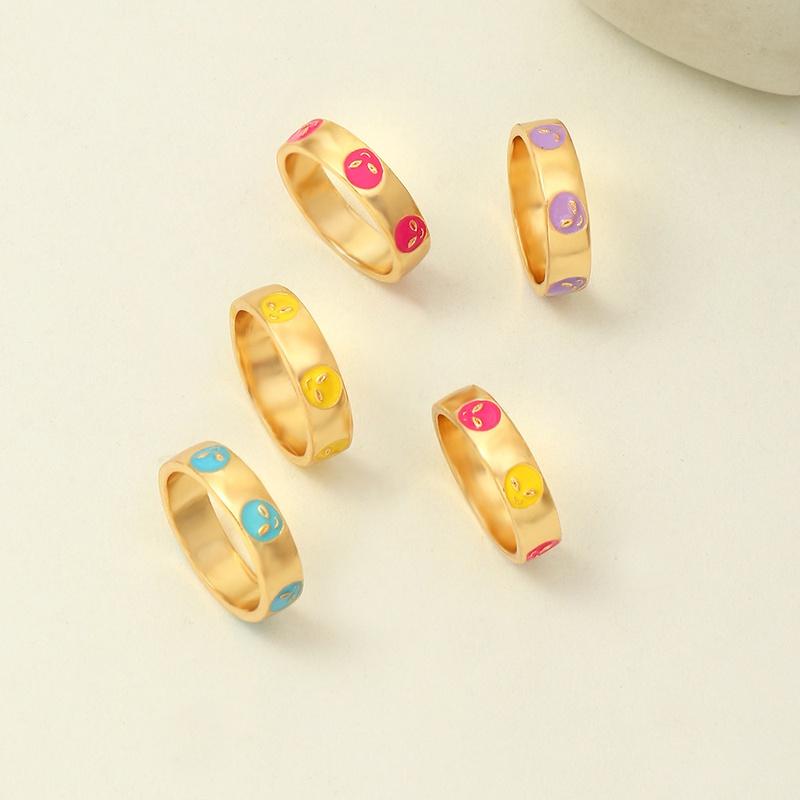 Retro Fashion Dripping Alien Ring  NHNZ370452