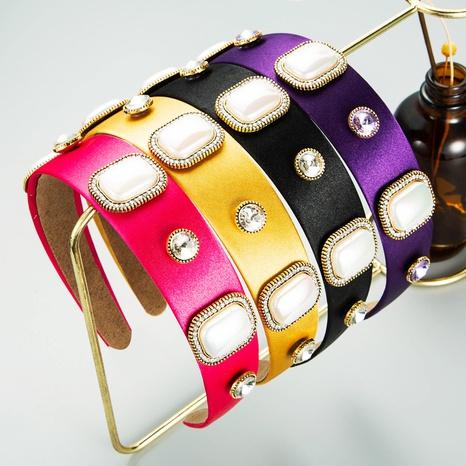 Diadema barroca retro cuadrada con perlas grandes NHLN370474's discount tags