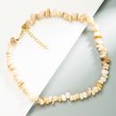 Retro unregelmige natrliche Muschel Kies kurze Halskette NHLN370492