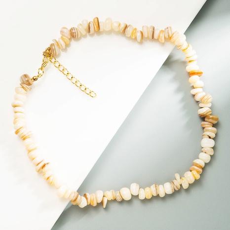 retro irregular natural shell gravel short necklace  NHLN370492's discount tags
