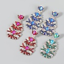 fashion rhinestone flower earrings  NHJE370514