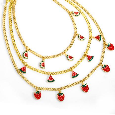 simple fruit tassel pendant copper necklace NHAS370559's discount tags