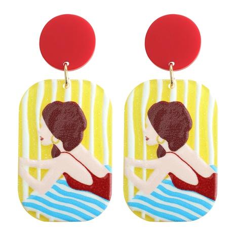 fashion cartoon portrait earrings NHJQ370577's discount tags